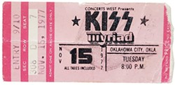 Kiss played at Myriad Convention Center in 1977. - PROVIDED