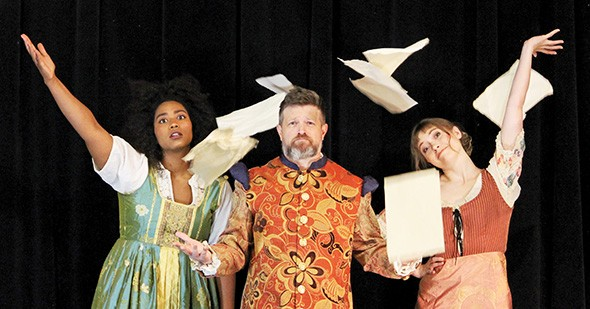 Aiesha Watley, Chris Rodgers and Kate Kemmet star in The Book of Will Thursday-Aug. 13 at Oklahoma Shakespeare in the Park, 2920 Paseo St. - PROVIDED
