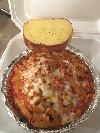 Baked penne pasta from Pizza Planet - JACOB THREADGILL