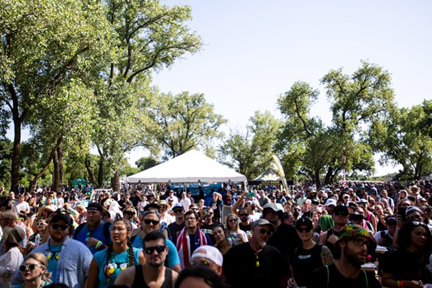 Thousands more people than expected turned out to the first High Times Oklahoma Cannabis Cup. - ALEX ACE