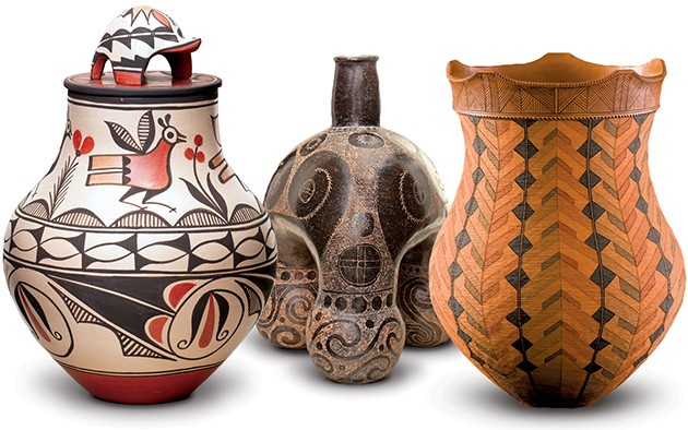 The exhibit includes 51 pieces by Caddo, Wyandot, Cherokee and Pueblo artists and others as well as information about the process of making ceramics. - PROVIDED