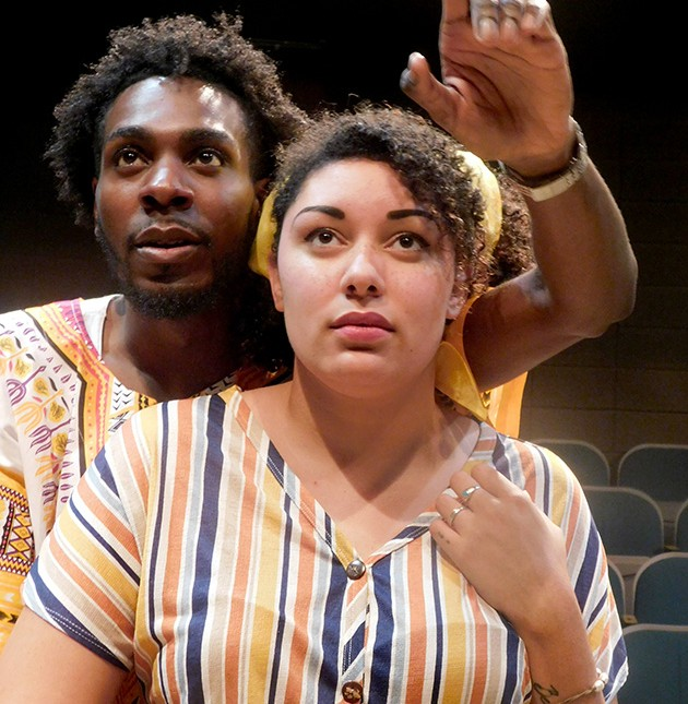 Bashawn Moore (Joseph Asagai) and Kat Adams (Beneatha Younger) star in A Raisin in the Sun Oct. 3-27 at Jewel Box Theatre. - PROVIDED