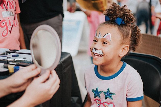 From 11 a.m. to 6 p.m., the kids area offers face painting, dancing, games, art and educational activities. - PROVIDED