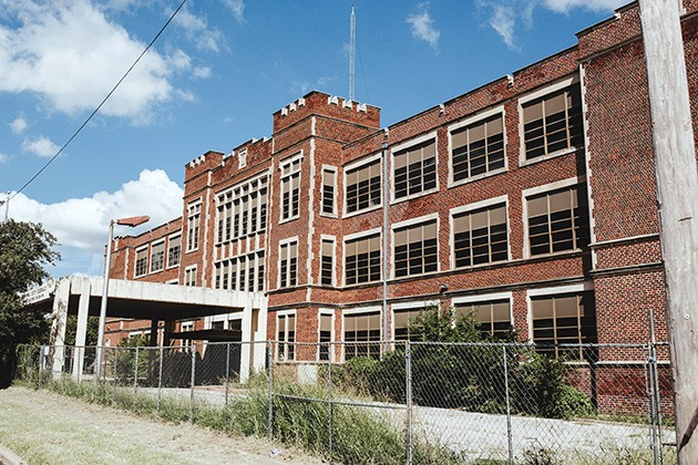 The former OKCPS administration building at 900 N. Klein Ave. has been vacant for years, but a development proposal could mean restoration into a hotel. - ALEXA ACE