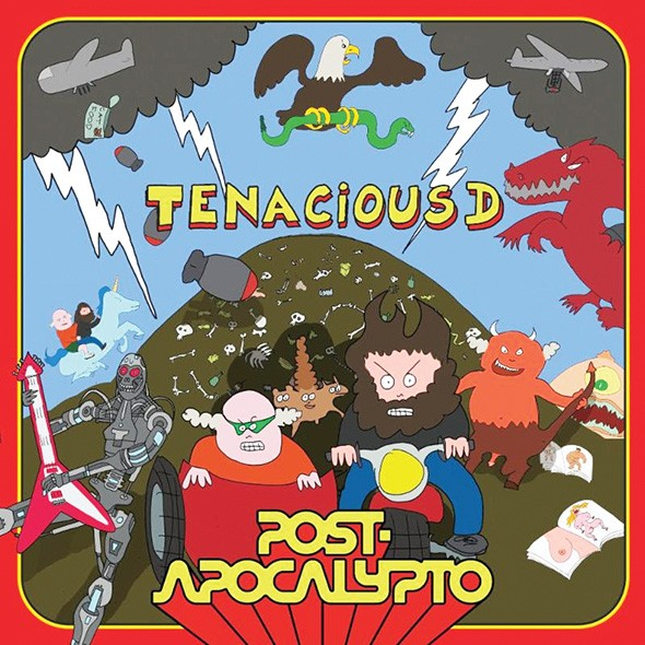 Post-Apocalypto, the soundtrack to Tenacious D's sort-of animated sci-fi rock opera, was released in November. - PROVIDED