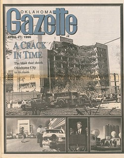 The issue of Oklahoma Gazette published after the bombing of the Alfred P. Murrah Building on April 27. 1995 - PHOTO GAZETTE/FILE