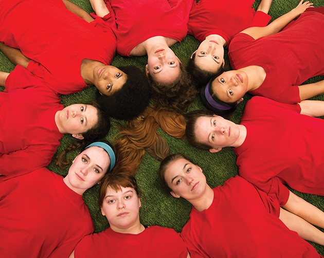 University of Oklahoma's production of The Wolves runs Oct. 25-Nov. 3 at Weitzenhoffer Theatre. - PROVIDED