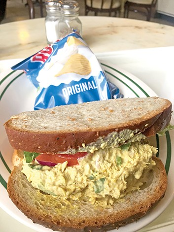 Curry chicken salad sandwich - JACOB THREADGILL