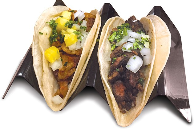 Asada and al pastor tacos from the new Taco Camion concession stand - JACOB THREADGILL