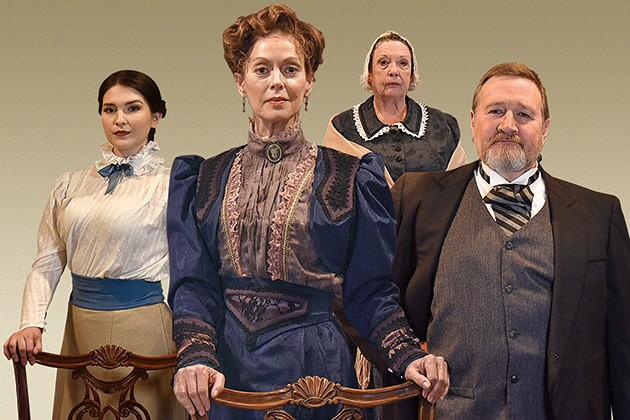 Steve Emerson, Stacey Logan, Avery Carlson and Pam Dougherty star in A Doll's House, Part 2 Nov. 8-24 at CitySpace Theatre. - WENDY MUTZ / PROVIDED