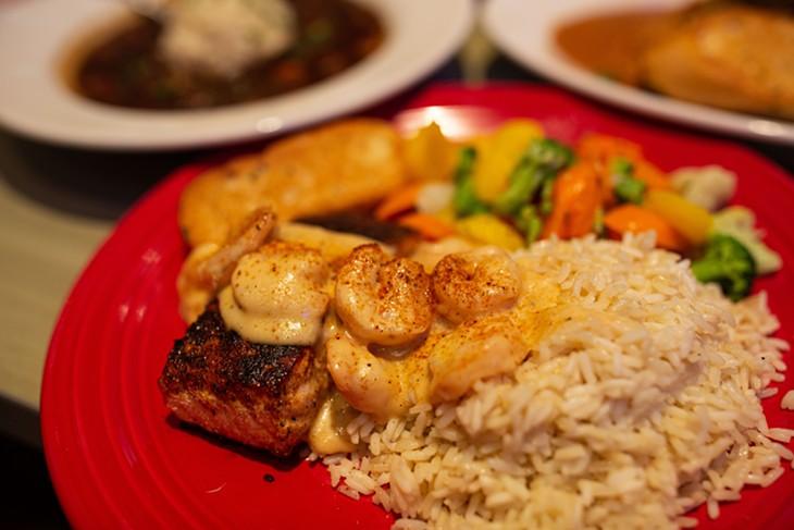 Redfish Bienville at Razzoo's Cajun Cafe - ALEXA ACE