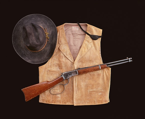 A costume and custom Winchester Model 1892 used by John Wayne in True Grit (1969), from the John Wayne Family Collection - PROVIDED