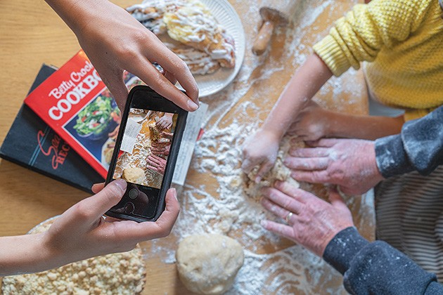 More than half of millennials use their phone or mobile device to display recipes while they cook. - PHILLIP DANNER