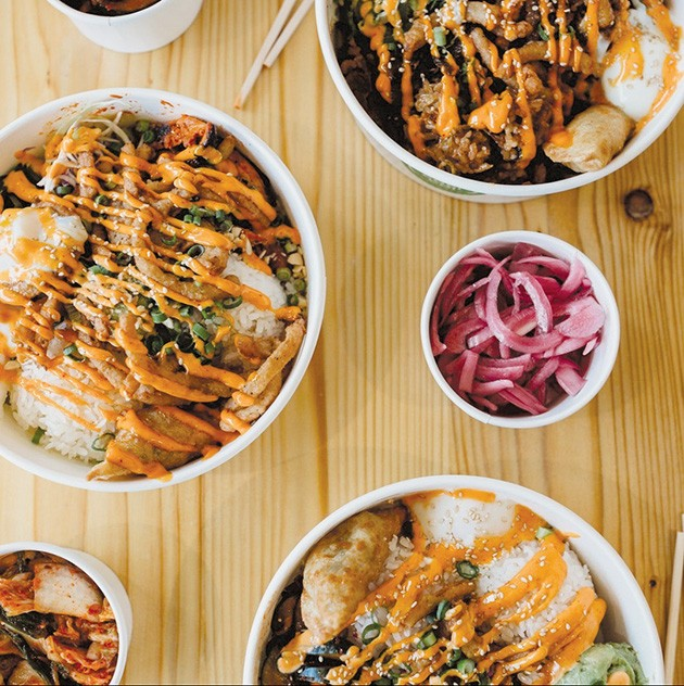An assortment of bowl items available at Gogi Go! - GAZETTE / FILE