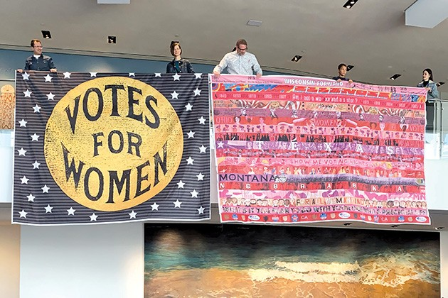 Her Flag 2020 will feature stripes created by women artists from each of the 36 states that ratified the 19th Amendment. - PHOTO PROVIDED