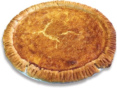 A Buttercheese Pie at Heifers & Hens is also known as buttermilk or chess pie. - JACOB THREADGILL