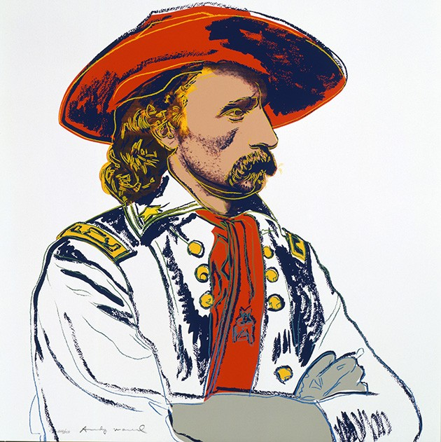 """General Custer"" (1986) from Cowboys and Indians by Andy Warhol - THE ANDY WARHOL MUSEUM, PITTSBURGH; FOUNDING COLLECTION, CONTRIBUTION THE ANDY WARHOL FOUNDATION FOR THE VISUAL ARTS, INC. 1998.1.2493.3"