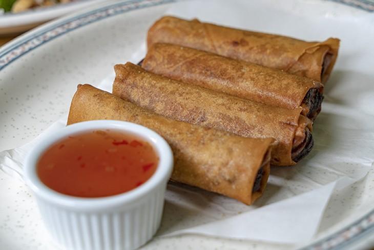 Queen of Eggrolls serves pork, veggie, beef, shrimp and chicken varieties of egg rolls. - PHILLIP DANNER