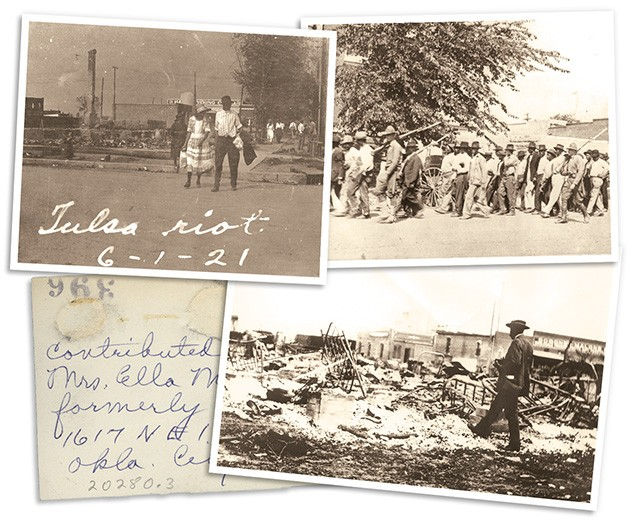 Photo postcards of the Tulsa Massacre were kept and distributed as part of white supremacist culture, but they are now preserved to make sure history is not forgotten or erased. - OKLAHOMA HISTORICAL SOCIETY / PROVIDED