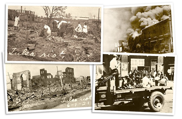In less than a day, Greenwood District's flourishing black community was reduced to ash and rubble by a white mob. - OKLAHOMA HISTORICAL SOCIETY / PROVIDED