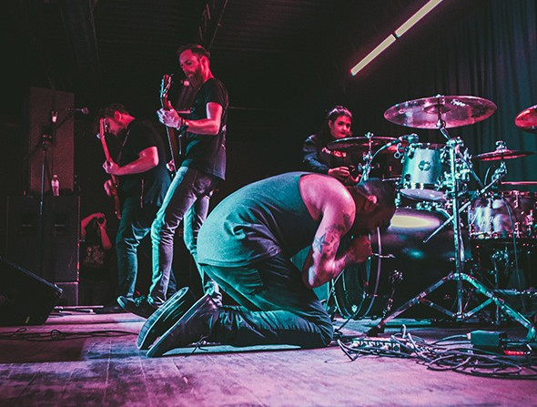 """Vocalist Jordan Ward joined the band shortly before the birth of his first child and """"brought whole new vibe to the band,"""" drummer Geoff Hochstetler said. - DALTON ROBASON / PROVIDED"""