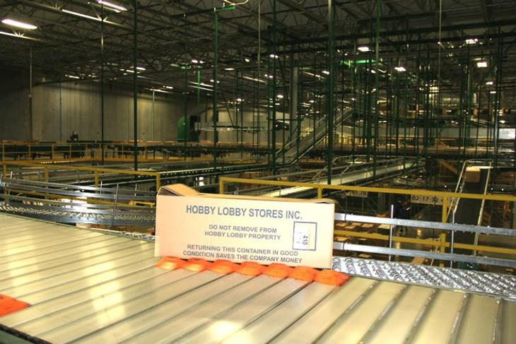 Inside a Hobby Lobby warehouse - PETER J. BRZYCKI