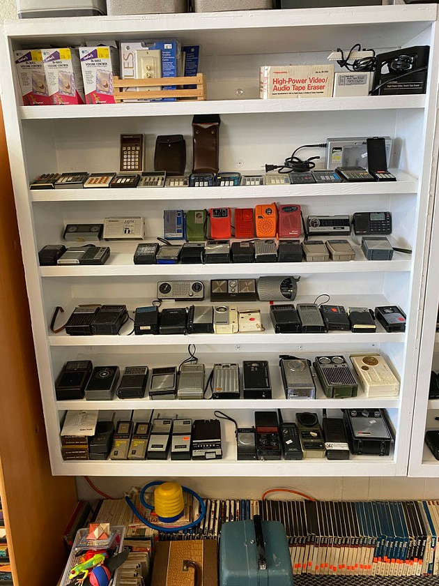 JB's Analog started at a flea market and now sells vintage electronics and VHS and cassette tapes from its storefront at 5850 NW 50th St. - PETER J. BRZYCKI