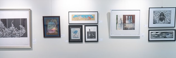 The Print on Paseo exhibit was on display through July. August's exhibit is Tour de Quartz. - PHILLIP DANNER