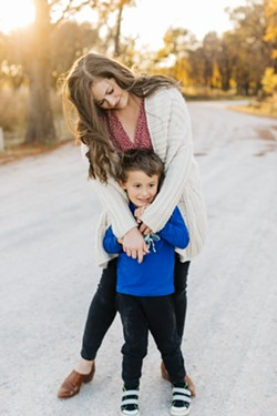 Halley with her son, Bronson Reeves - JORDAN MOBLEY PHOTOGRAPHY