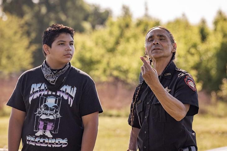 Reservation Dogs - Season One -Lane Factor & Zahn McClarnon - PHOTO SHANE BROWN/FX