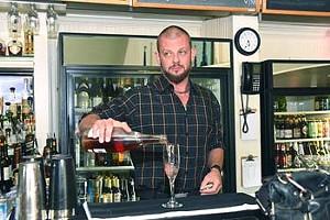 Bar tender at Flips.  mh