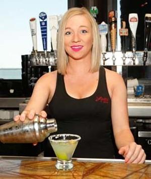 Bar staff at Louie's on the Lake in Oklahoma City, Thursday, Aug. 6, 2015.  (Garett Fisbeck) - GARETT FISBECK