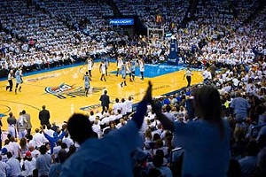 OKC Thunder vs the Grizzlies, 4-29-2014.  sc