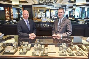Left, Coleman and Mitchell Clark at BC Clark Jewelry in Downtown OKC.  mh