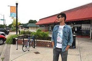 David Hanon says he's not quite sure what a hipster is, as he hangs out at the Plaza District recently.  mh