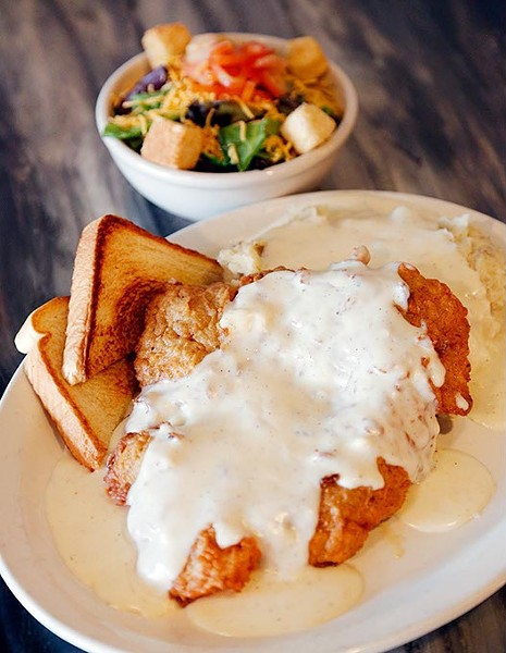 Chicken fried steak at Miller Grill in Yukon, Wednesday, May 13, 2015. - GARETT FISBECK