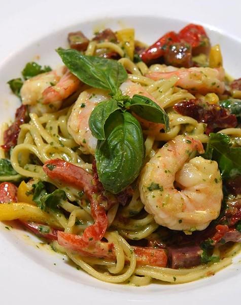 Shrimp Pasta at Stella Modern Italian Cuisine in Midtown, OKC, 11-19-15. - MARK HANCOCK