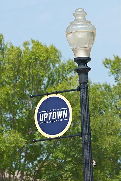 New signs marking the Historic Uptown district were unveiled along NW 23rd Street in Sept. of 2013.  mh