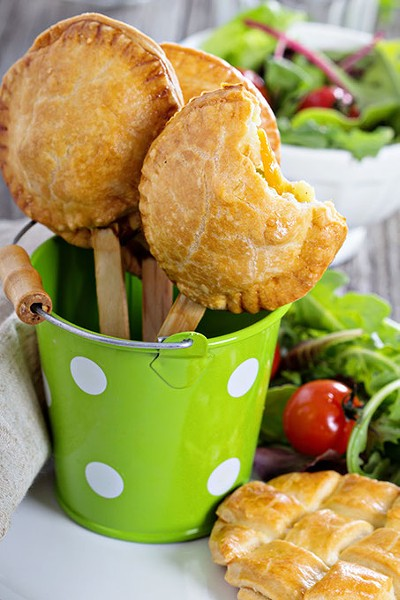 Savory hand pies with chicken and vegetables - BIGSTOCK