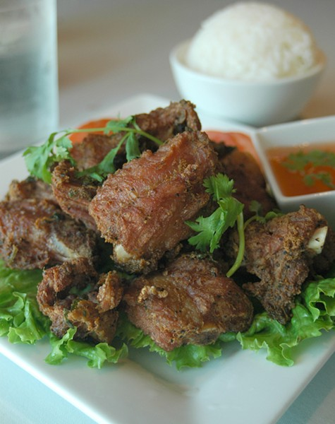 The spare ribs at Banana Island restaurant. (Lauren Hamilton)