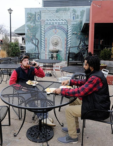 Zedek Shaughnessy and Alano McClain at Sauced on the Paseo, Friday, Jan. 22, 2016. - GARETT FISBECK