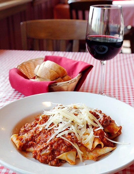 Bolognese Papardelle at Gabriella's in Oklahoma City, Tuesday, May 12, 2015. - GARETT FISBECK