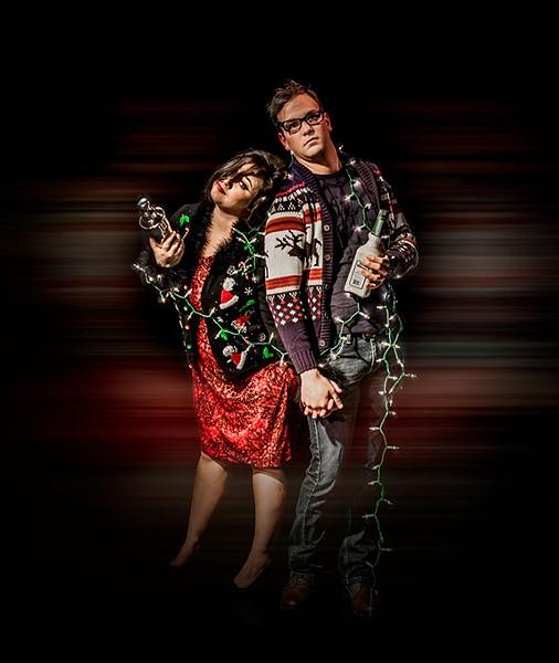 Holly McNatt and Keith Ferguson are Meg and Jacob in Oklahoma City Theatre Company's production of Alcoholidays. (Provided)