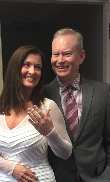 Mayor Mick Cornett, 56, and Terri Walker, 55, were married Nov. 26. - PROVIDED
