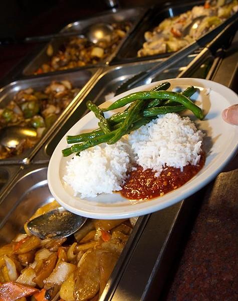 Lunch buffet at Hy Palace. - MARK HANCOCK