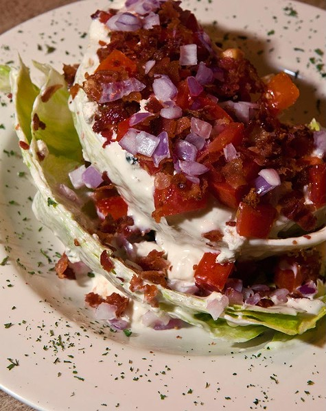 Large wedge salad at Hideaway Pizza, 6616 N. Western. (Mark Hancock)