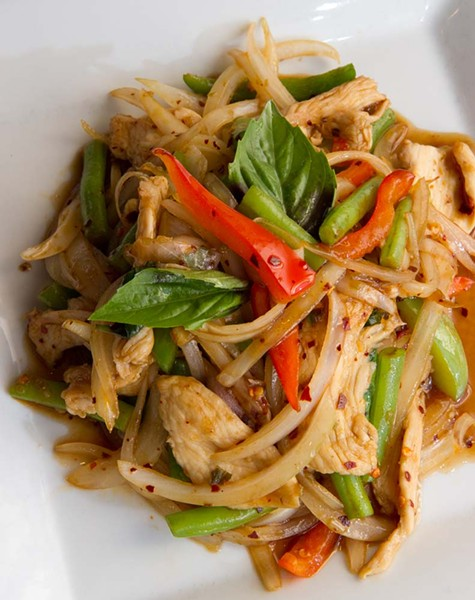 Spicy Basil Chicken at Charm Thai Cuisine (Shannon Cornman)