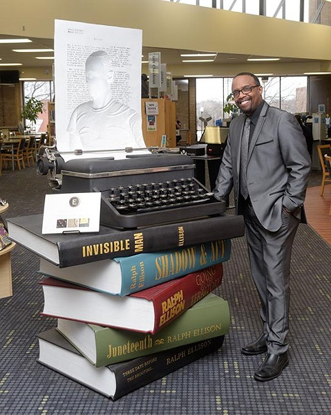 Michael Owens poses for a photo at the Ralph Ellison Library, Monday, Feb. 13, 2017. - GARETT FISBECK