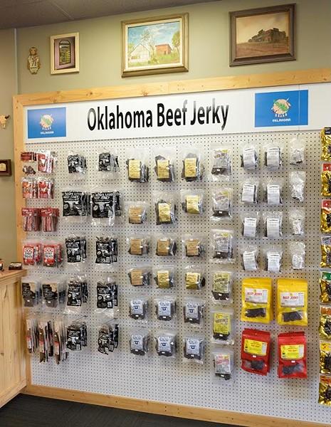 Beef jerky at the Beef Jerky Emporium, Monday, Aug. 29, 2016. - GARETT FISBECK
