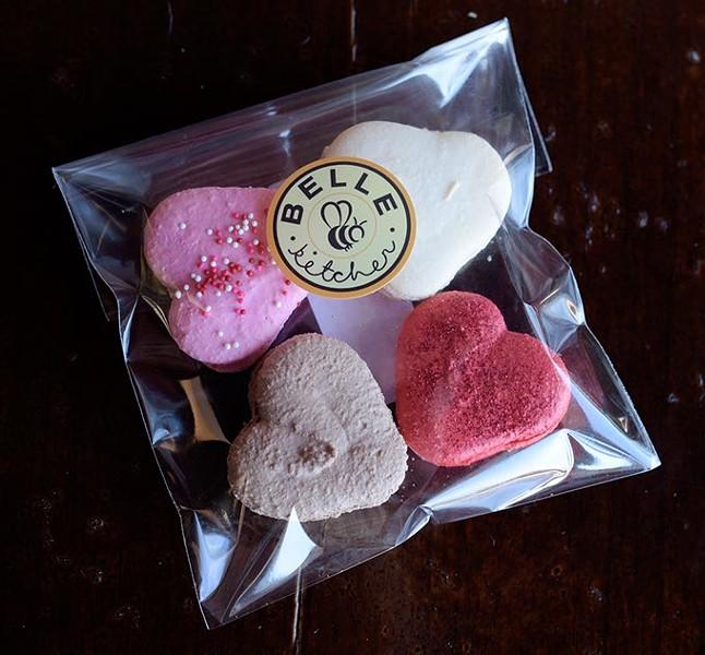 Valentines Day macaroons at Belle Kitchen, Friday, Jan. 27, 2017. - GARETT FISBECK